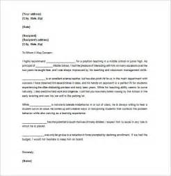 Letter Format To Principal For Scholarship Letter Of Recommendation For 9 Free Word Excel Pdf Format Free