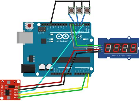 Code Arduino Clock | making a digital clock arduino 7 segment 4 digit tm1637