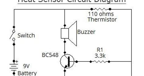 schematic volt simple heat sensor wiring diagram schematic