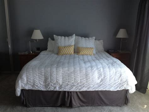 how to dress a bed with pillows how to dress up my master bedroom gray yellow