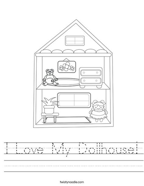 a doll house full text i love my dollhouse worksheet twisty noodle