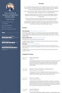 resume format exles documentation of android android разработчика cv пример visualcv образцы базе