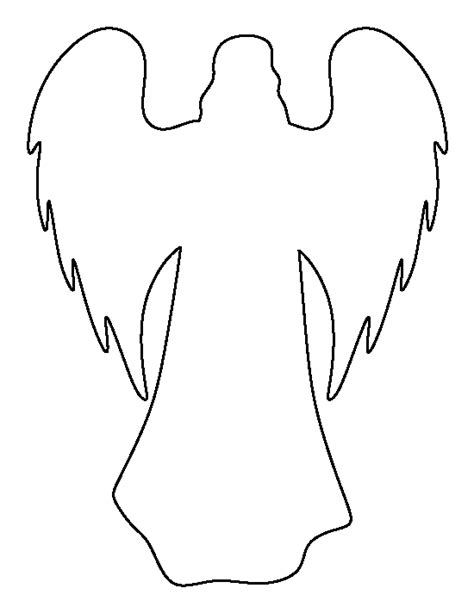 printable angel template angel pattern use the printable outline for crafts