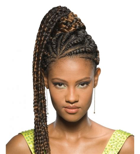 black hair styles with braids and pony ponytail braids for black hair fake braided pony tails for