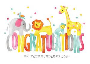 baby animals congratulations card birth congratulations from brookhollow