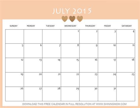 july 2015 printable calendar planner 8 lovely july 2015 calendars