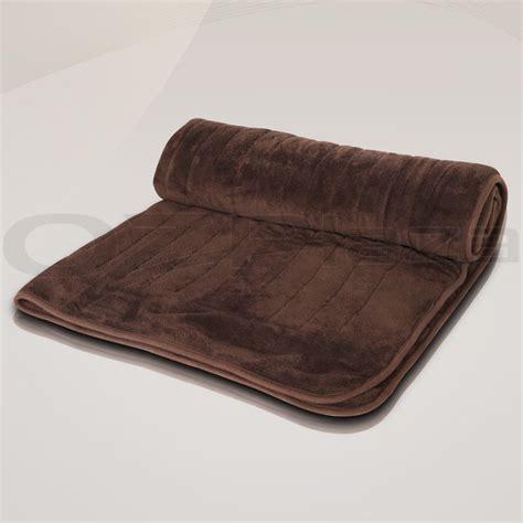 electric heated throw blanket snuggle rug 9 heat settings