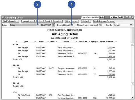 Aging Report For One Customer In Quickbooks by Preparing A Payroll Liability Report Show Me Quickbooks 2006
