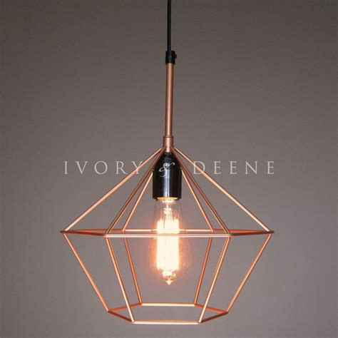 wire cage pendant light cage pendant copper tone wire l light retro