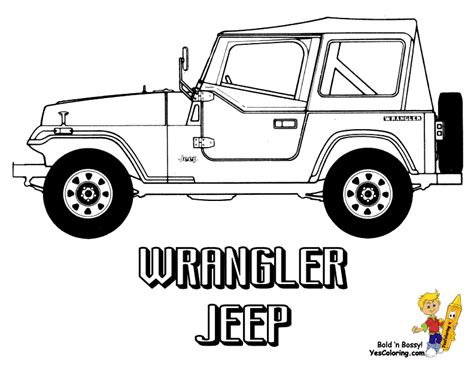 jeep rubicon coloring pages american pickup truck coloring sheet free trucks jeep