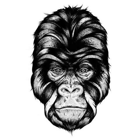 geometric gorilla tattoo black gorilla head with geometric pattern tattoo design