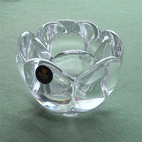 kerzenhalter vase holmegaard lotus flower candle holder medium