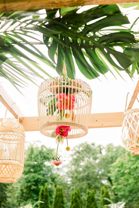 tropical poolside elopement ideas  bohemian flair