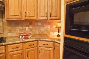 Kitchen Backsplashes With Oak Cabinets » Home Design 2017