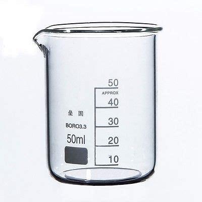 Promo Beaker Glassgelas Kimia Low Form 50 Ml 50ml low form beaker chemistry laboratory borosilicate