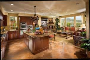 kitchen dining room living room open floor plan home design