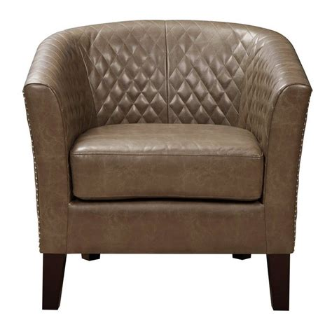brown faux leather accent chair pri faux leather accent chair in brown ds 2515 900 397