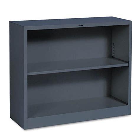 Hon Steel Bookcase Hon Brigade Metal Bookcase 2 Shelves 3 X 29 Quot X 12 Charcoal