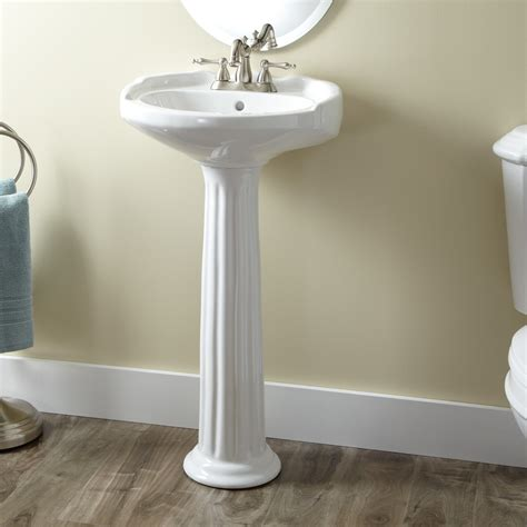 Pedestal Bathroom Sinks Medium Porcelain Pedestal Sink Bathroom