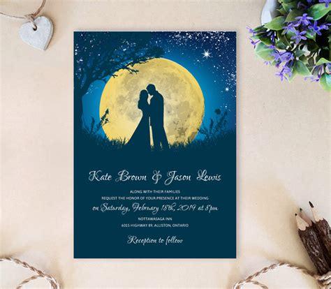 harvest moon wedding invitations moon wedding invitations lemonwedding