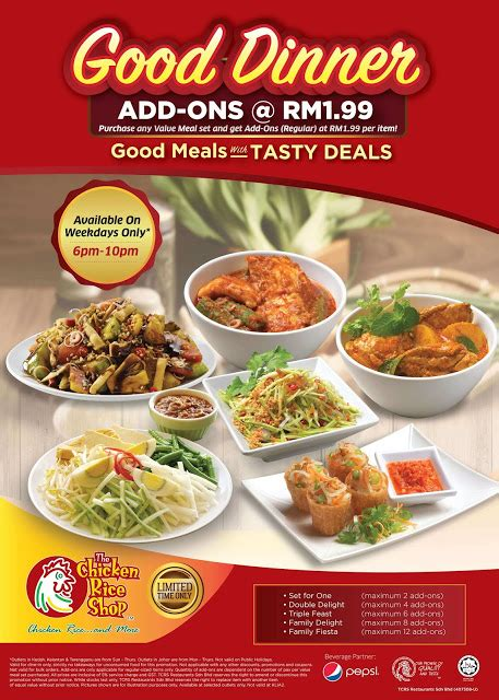 Harga Dinner Set by The Chicken Rice Shop Dinner Value Meal Set Add On Rm1 99