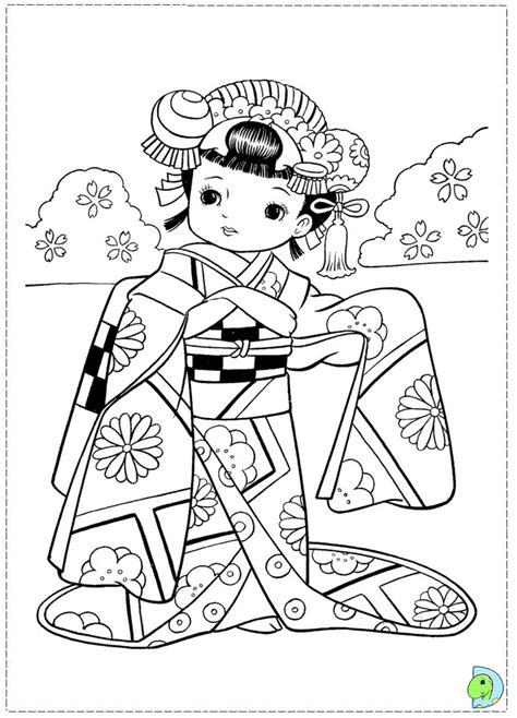 japanese boy coloring page japanese girl coloring page dinokids org