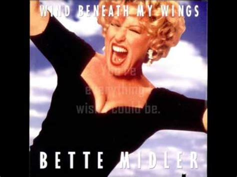bette midler lyrics bette midler wind beneath my wings lyrics