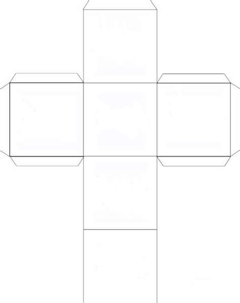 6 sided dice template bing images
