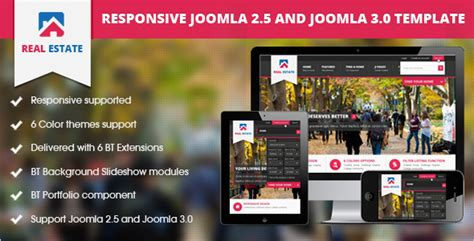 41 Best Real Estate Joomla Templates Free Website Themes Free Real Estate Responsive Website Templates