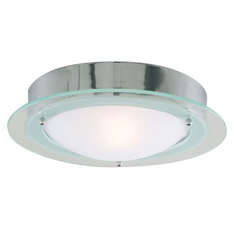 chrome and opal glass flush fitting bathroom ceiling light ip44 ip44 chrome flush fitting with opal glass 3108cc stanways stoves and lights