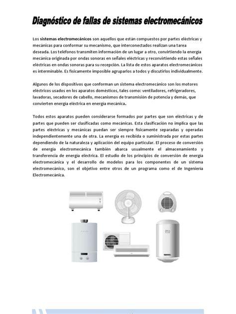 Tabla De Fallas Sistemas Electromecnicos   diagn 243 stico de fallas de sistemas electromec 225 nicos
