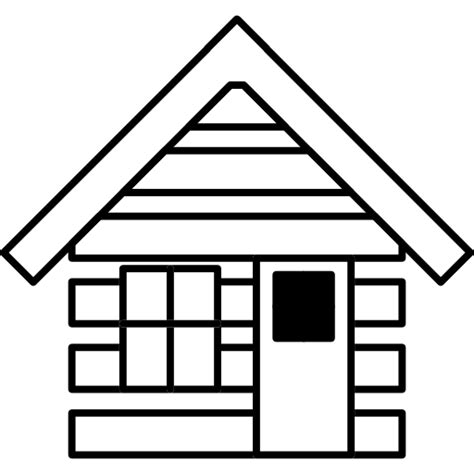 Free House Outline Image by Cabin House Outline Free Buildings Icons