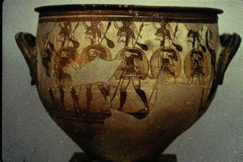 Mycenaean Warrior Vase by Image Links Chapter 4