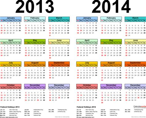 printable 3 year calendar 2013 to 2015 8 best images of 3 year calendar 2013 2014 2015 printable