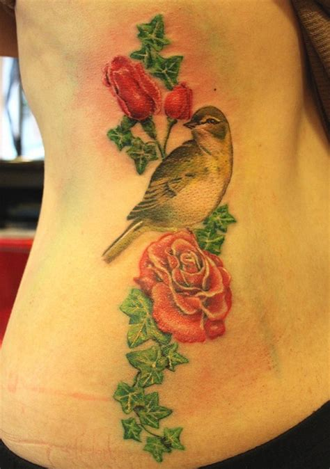bird with rose tattoo 64 best tattoos images on