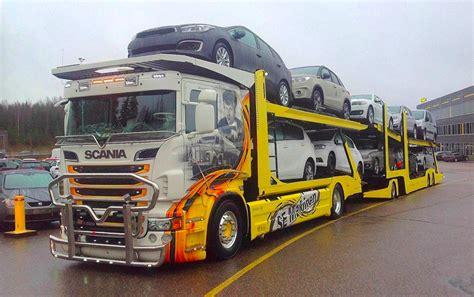 camion remorque porte voiture un finlandais qui sort de l ordinaire franceroutes