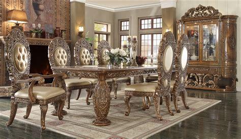 victorian dark brown dining room set  homey design hd