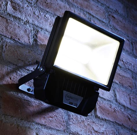 Patio Flood Lights Auraglow 50w Led Security Light 250w Eqv Black Auraglow Led Lighting