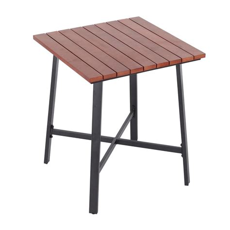 hton bay plaza mayor square wood outdoor bistro table