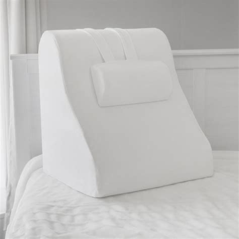 biopedic memory foam bed wedge with adjustable memory foam jumbo pillow 20011 the home depot