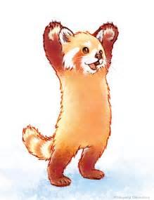 tattoo roter panda drawn red panda pencil and in color drawn red panda