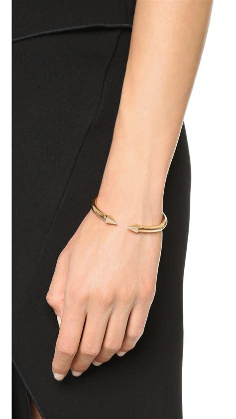 Vita fede Mini Titan Hexagon Bracelet   Rose Gold in Metallic   Lyst