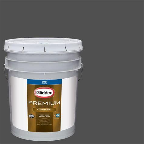 5 gallon exterior paint glidden premium 5 gal hdgcn65u grey metal satin