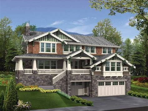 eplans craftsman house plan craftsman for a sloped lot