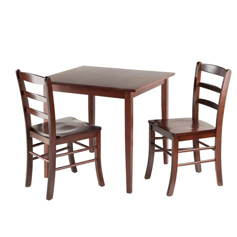 Dining Table Set For 2 Winsome Groveland Square Dining Table With 2 Chairs 3 Chairs