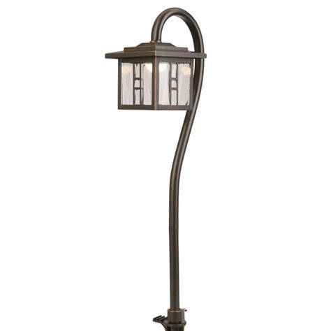 Hampton Bay Low Voltage Oil Rubbed Bronze Outdoor Integrated LED Tiffany Style Path Light