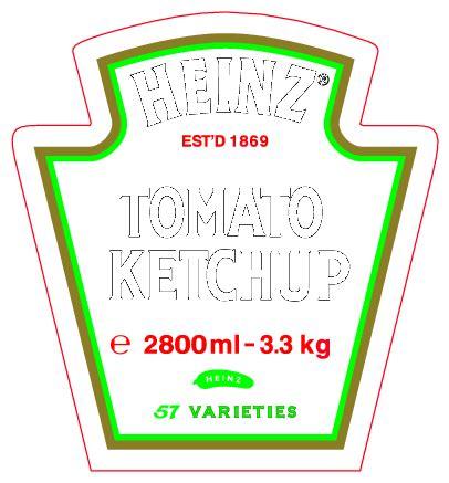 Heinz Label Template by Heinz Tomato Ketchup Logo Free Vector Logos Vector Me