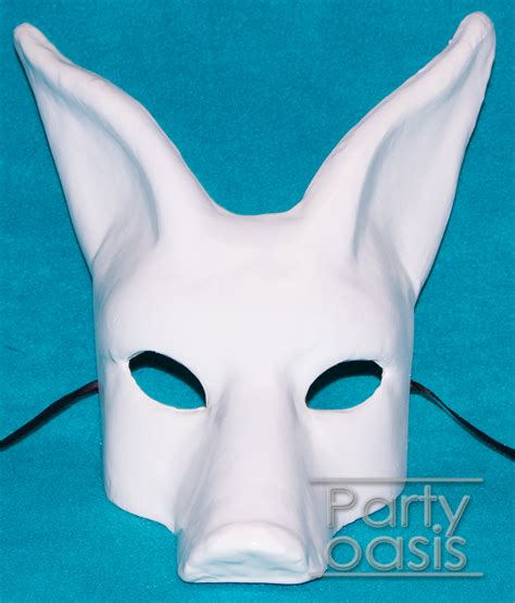 Mask With Paper - paper mache mask