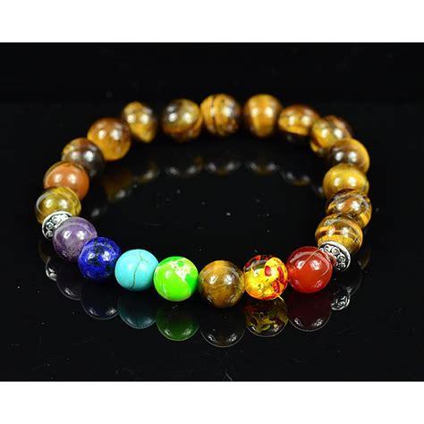 ref 75789 bijouximport fr grossiste bijoux bracelet porte bonheur 7 chakras en pierres
