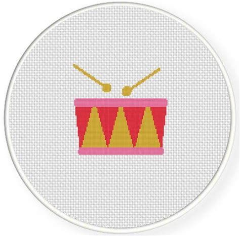 pattern for drum drum cross stitch pattern by teamembro3703945 craftsy